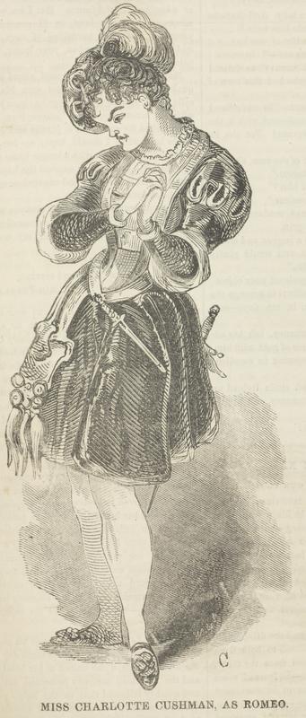 Charlotte Cushman, 1817-1876, caricature