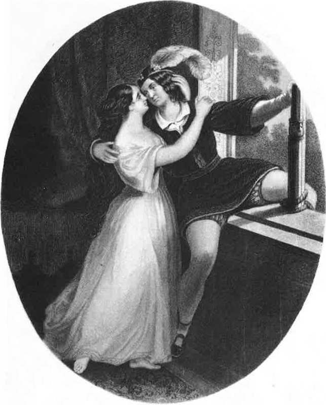 Charlotte and Susan Cushman as Romeo and Juliet, respectively