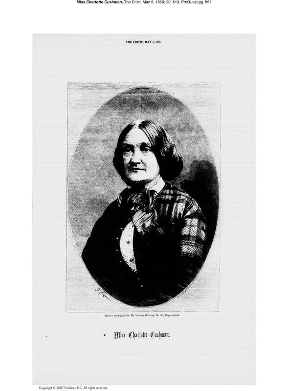 Miss Charlotte Cushman