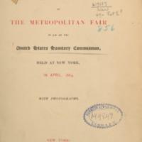 1864. Metropolitan Fair US Sanitary Commission excerpt. Omeka.pdf